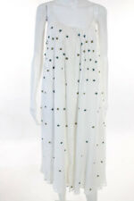 Paul & Joe Ivory Yellow Black Floral Embroidered Ditot Dress Sz 42 New LL19LL