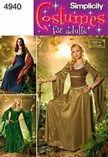 Simplicity Sewing Pattern 4940 Misses Ladies Medieval Costumes Size 10-18
