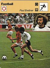FOOTBALL carte joueur fiche photo PAUL BREITNER ( ALLEMAGNE ) JOHNNY REP