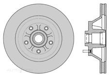 RDA19S - SLOTTED BRAKE ROTOR - HSV VG-VQ 3.8/5.0L 88-93 FRONT 330MM