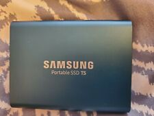 Samsung T5 500GB External Portable SSD, Alluring Blue