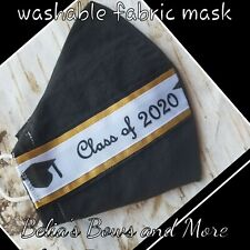 Adult Large.Class of 2020. Washable Fabric Mask with pocket