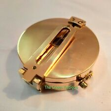 Antique Brass Clenometer Small Compass Maritime Collectible