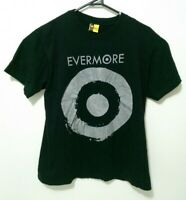 Evermore Mens T-Shirt Size M Authentic Black Short Sleeve Band Tee EUC