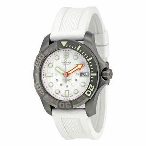 Victorinox Swiss Army Gunmetal IP White Dial & Rubber Unisex Watch 241559 SD9