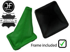 GREEN TOP GRAIN  LEATHER GEAR BOOT + PLASTIC FRAME FOR VW GOLF MK1 RABBIT JETTA