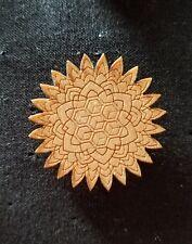 Wooden Sacred Geometry Pin star firework sacred g cube handmade flower of life