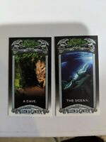 Where Monsters Live Mini 2020 Topps Allen & Ginter Lot of 2 Cave & Ocean