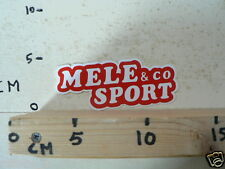 STICKER,DECAL MELE & CO SPORT RED