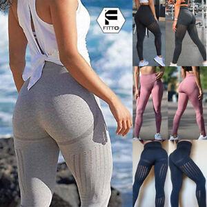 Women's Seamless Yoga Pants High Waist Soft Leggings Sport Fitness Trousers Gym