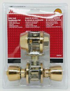 ACE COMBINATION ENTRY LOCK SET Polished Brass 4 keys (5238720)