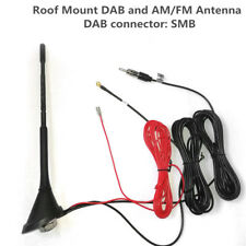 12V Universal Car Roof Mount DAB and AM/FM Radio Antenna Aerial Signal Amplifier