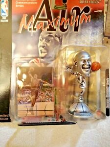 Mattel Maximum Air Michael Jordan Silver Limited Edition Figure & Card 1999
