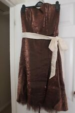 Women's Ladies' Tailor Made Brown Dress Size 12 - Partys, Wedding, Christmas