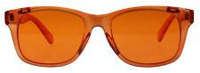 Hipster Mens Designer Poker Sunglasses Orange Frame/Lens Retro Vintage Wayfarer