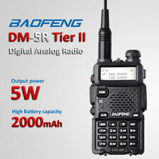 Baofeng DM-5R DMR Digital Analog Two Way Radio Tier II Walkie Talkie + Earpiece