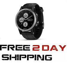Garmin Fenix 5S Plus Music Gps Hrm Watch, Silver with Black Band 010-01987-20