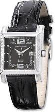 Ladies Charles Hubert 0.42ctw Diamond Bezel Black 29x28mm Dial Watch