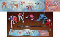 Set 5 Figura Colección Modelos 8cm Robot Gundam Serie Parte 7 BANDAI Gashapon