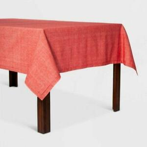Chambray Hemstitch Tablecloth 60×84 Red – Threshold™