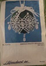 "Herrscher Inc ""Emerald Beauty Ornaments, set of Four"" Kit #99-6721"