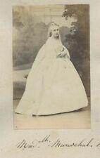 Portrait actrice Mlle Mareschal Second Empire Bouffes-parisien 1870