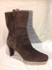 Nine West Brown Mid Calf Suede Boots Size 7Uk