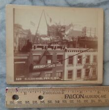 Antique Cabinet Card - Rooftops NYC - 1891