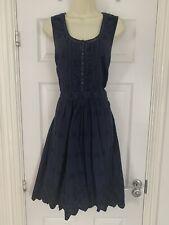 Vestido de verano Azul Marino En Encaje tu una línea 16 Columpio Té Rockabilly Azul marino