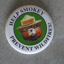 Vintage 1970s Help Smokey Prevent Wild Fires Pin Back