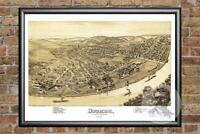 Vintage Duquesne, PA Map 1897 - Historic Pennsylvania Art - Victorian Industrial