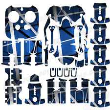 DJI Inspire 1 graphic skins w/6 Batteries Transmitter Decals | Death Metal Blue