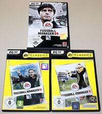 3 PC SPIELE SAMMLUNG FIFA FUSSBALL MANAGER 09 10 11 ---------- (12 13)