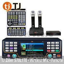 Tj Taijin Media Ziller B70 Karaoke Machine 1Tb Ntsc + Tir-1060 + 2 Wireless Mic