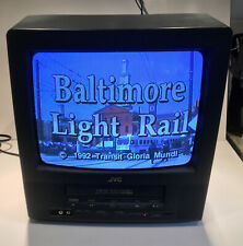 """JVC TV VCR Combo TV-13141 CRT Retro Gaming 13"""" Television, Remote TESTED ExcCond"""