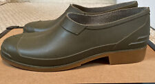Rontani Italy Ankle Galoshes Rain Shoes Boot Rubber Green Mens Size 8 US 43 EU