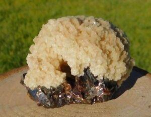 Barite Crystal Cluster Snowball on Dark Red Sphalerite Elmwood Mine Tennessee