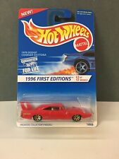 1996 Hot Wheels #382 First Editions 3/12 1970 Dodge Charger Daytona Red wGld 7Sp
