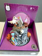 Disney Nightmare Before Christmas Musical Snow Globe Jack Sally Zero New