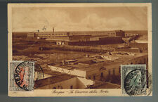 1925 Benghazi Libya Picture Postcard Cover to USA Berka Fortress Fort