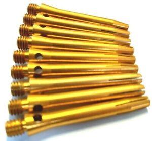 9 x ALLOY ALUMINIUM GOLD DARTS STEMS DART SHAFTS Short (3 sets) 34 mm