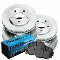 Fit Kia Forte, Forte Koup, Forte5 Front Rear  Blank Brake Rotors+Ceramic Pads