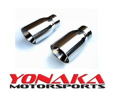 "Yonaka 3.5"" Yonaka Pair Stainless Steel 20 Degree Angled Cut Rolled Exhaust Tips"