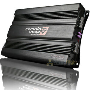 Cerwin Vega XED72500.1D 2500W Max 500W RMS Class-D Monoblock 1 Ohm Stable Amplifier with Bass Knob Included