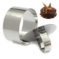 Round Mousse Cake Food Grade Stainless Steel Ring Pastry Mold Dessert Cutter Pie