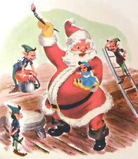 Mid Century Illustrations Little Golden Book Walt Disney Santas Toy Shop Lgb Vtg