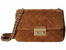 NWT MICHAEL KORS LARGE SLOAN SUEDE SHOULDER BAG DARK CARAMEL