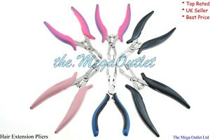 HAIR EXTENSIONS PLIER For Removing MICROBEADS RINGS & Crushing FUSION  GLUE BOND