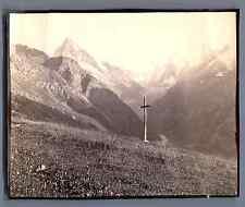 France, Paysage montagneux  Vintage citrate print. Tirage citrate  9,5x12