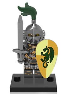 NEW Mini figure DRAGON KNIGHT Swordman Knight 1 Series Minifigure UK STOCK
